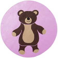 Playground Light Pink/Chocolate Kids Rug