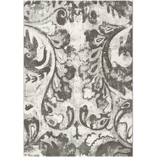 Contempo Gray Flower Rug
