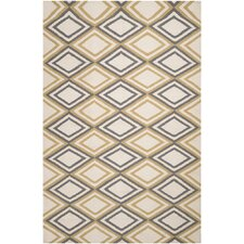 Frontier Winter White & Pewter Geometric Area Rug