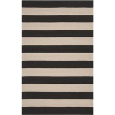 Rain Parchment/Espresso Stripe Indoor/Outdoor Rug