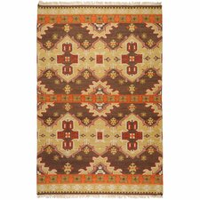 Jewel Tone II Chocolate/Orange Rug
