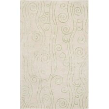 Escape Beige Leaf Area Rug