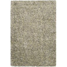 Mink Shags Black Olive Rug