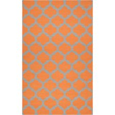 Frontier Pumpkin & Flint Gray Area Rug