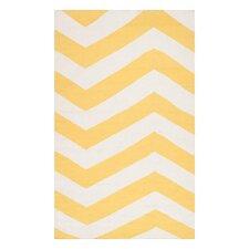 Frontier Sunshine Yellow/White Rug