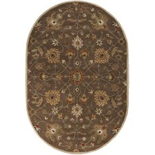Caesar Dark Brown Floral Rug
