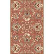 Caesar Red Clay Floral Rug