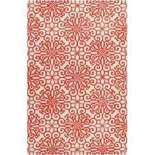 Oasis Rust Red/Antique White Rug