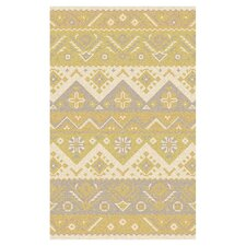 Jewel Tone Cream Rug