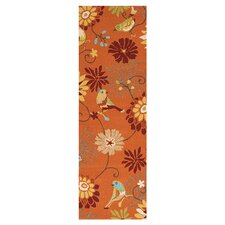 Rain Orange Outdoor Rug