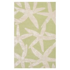 Escape Lettuce Leaf/White Rug