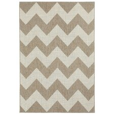 Elsinore Wheat Chevron Indoor/Outdoor Rug