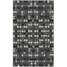 Kevin O'Brien Charcoal Dot Rug