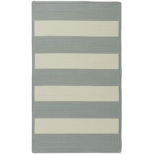 Willoughby Striped Spa Blue Area Rug