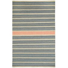 Barred Beige Apricot Striped Area Rug