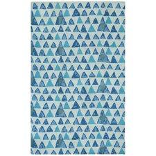 Charisma Blue Pyramid Area Rug