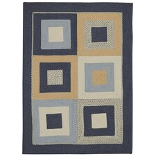 Tweed Square Deep Blue Rug