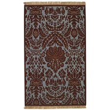 Indienne Coffee Floral Lace Rug