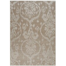 Udorn Tan Sunburst Indoor/Outdoor Rug