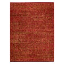 Tonal Trace Red Rug