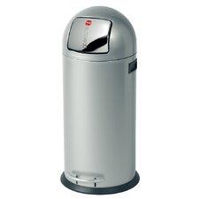 "Großraum-Abfallbox ""KickMaxx 50"" aus Stahlblech in Silber"
