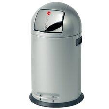"Großraum-Abfallbox ""KickMaxx 35"" aus Stahlblech in Silber"