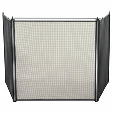 3 Panel Steel Stove Fireplace Screen