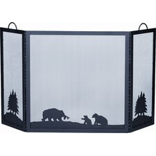 <strong>Uniflame Corporation</strong> Deluxe Bear Wrought Iron Fire Fireplace Screen