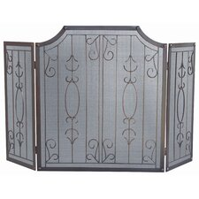 3 Panel Venetian Bronze Fireplace Screen