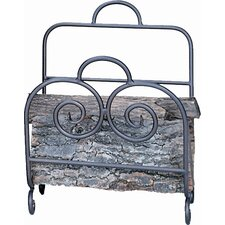 Bronze  Wrought Iron Woodbasket