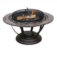 Fire Pit with Granite Mantel