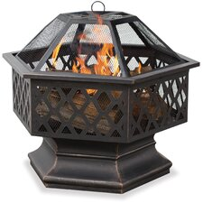 <strong>Uniflame Corporation</strong> Bronze Outdoor Firebowl with Lattice