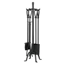 5 Piece Olde World Iron Fireplace Tool Set