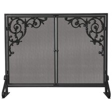 <strong>Uniflame Corporation</strong> 1 Panel Olde World Iron Fireplace Screen