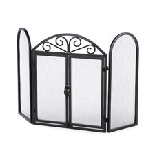 <strong>Uniflame Corporation</strong> 3 Panel Wrought Iron Fireplace Screen with Opening Doors