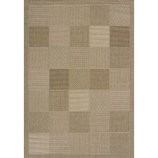 Solarium Brown Patio Block Indoor/Outdoor Rug