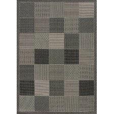 Solarium Grey Patio Block Indoor/Outdoor Rug