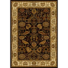 Affinity Black Persian Canvas Rug