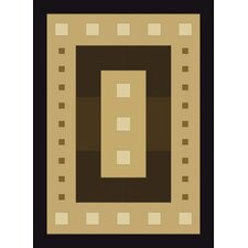 China Garden Mystic Square Black Rug