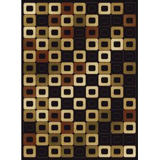 China Garden Abacus Black Rug