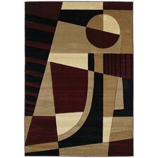 Contours Urban Angles Burgundy Rug