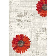 Infinity Ivory/Red Floral Rug