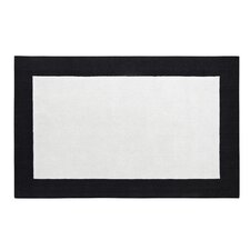 Manhattan Ivory/Black Solid Bordered Rug