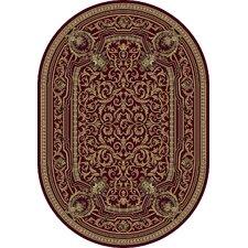 Ancient Garden Burgundy Persian Rug