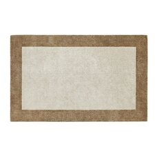 Manhattan Beige/Gold Solid Bordered Rug