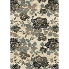 Opus Beige / Grey Floral Rug