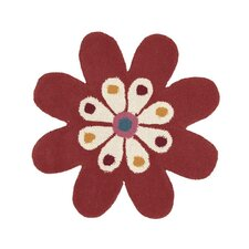 Fantasia Flower Orange Kids Rug