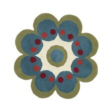 <strong>Dynamic Rugs</strong> Fantasia Flower Turquoise Kids Rug