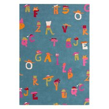 <strong>Dynamic Rugs</strong> Fantasia Alphabet Blue Kids Rug