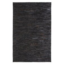 <strong>Dynamic Rugs</strong> Leatherwork Black Rug